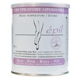 Cire tiède Elle épile rose pour zones sensibles pot de 800 g