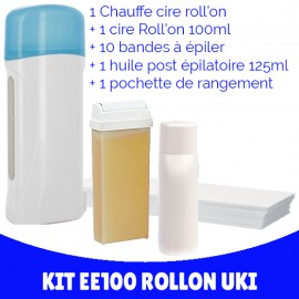 Kit épilation chauffe-cire roll-on Uki