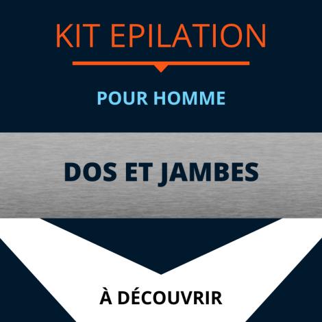 KIT ÉPILATION HOMME DOS / JAMBES