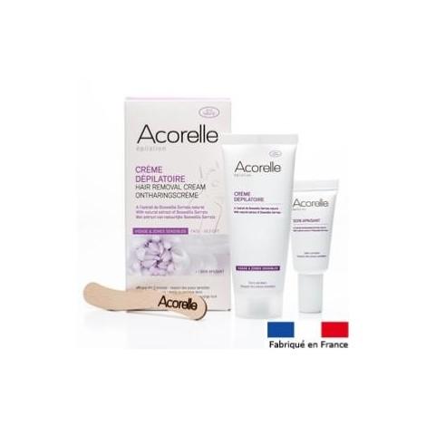 Crème dépilatoire zones sensibles Acorelle 75 ml